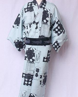 江戸時代のモチーフをモダンにデザインしたシリーズ。火消しが使用した纏と半纏の図版を元になっています。「す組」は籠目模様を目印でした。