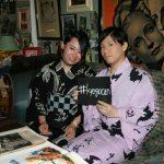 京都のレンタル着物京呉館で着物レンタルをご利用くださったカップルのお客様。著名人とのコラボ、ゆかりのある柄をそれぞれ選ばれ京都をお出かけされました。