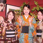 京都のレンタル着物京呉館で着物をレンタルしてくださったお客様。皆さまでwafrica着物で揃えられ。おしゃれな着こなしでお出かけされました。