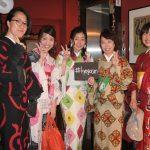 京都のレンタル着物京呉館で着物レンタルをご利用くださったお客様。それぞれお好みの柄を選ばれ個性的に着こなしお出かけくださいました。