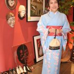 京都のレンタル着物京呉館で着物レンタルをご利用くださった海外のお客様。桜柄のふんわり可愛い柄のお着物で京都観光をお楽しみくださいました。