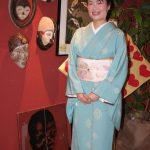 レンタル着物京呉館で正絹の着物をレンタルしてくださったお客様です。帯と帯締めはご持参くださりスタイリングいたしました。パーティーでの参加に京都の京呉館をご利用くださいました。