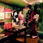 京都のレンタル着物京呉館で着物レンタルをご利用くださったおしゃれなお客様。小物などをご持参くださりそれぞれおしゃれに着こなして京都をお出かけされました。