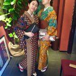 京都のレンタル着物京呉館で着物レンタルをご利用くださったお客様です。お二人でwafrica着物を選ばれました。
